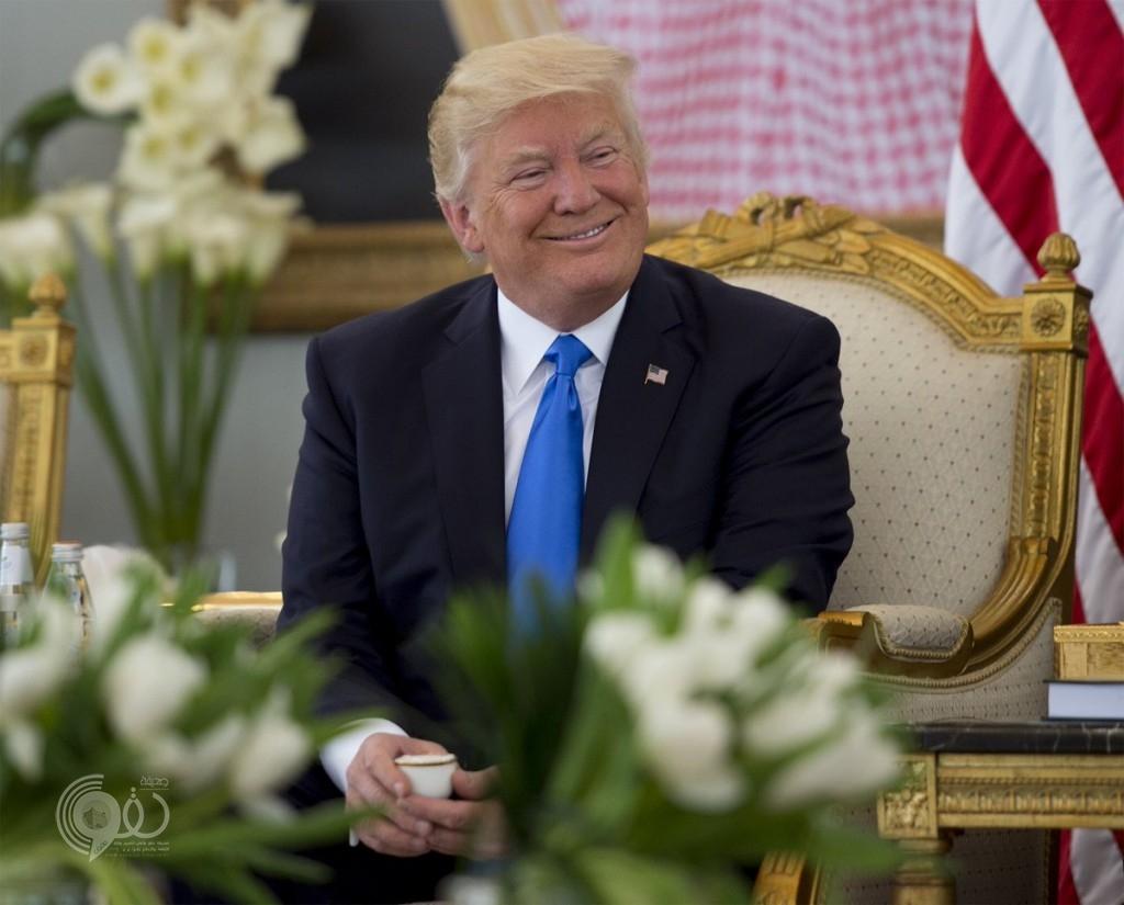 شاهد ماذا قال ترامب في أول تغريدة على تويتر بعد وصوله الرياض