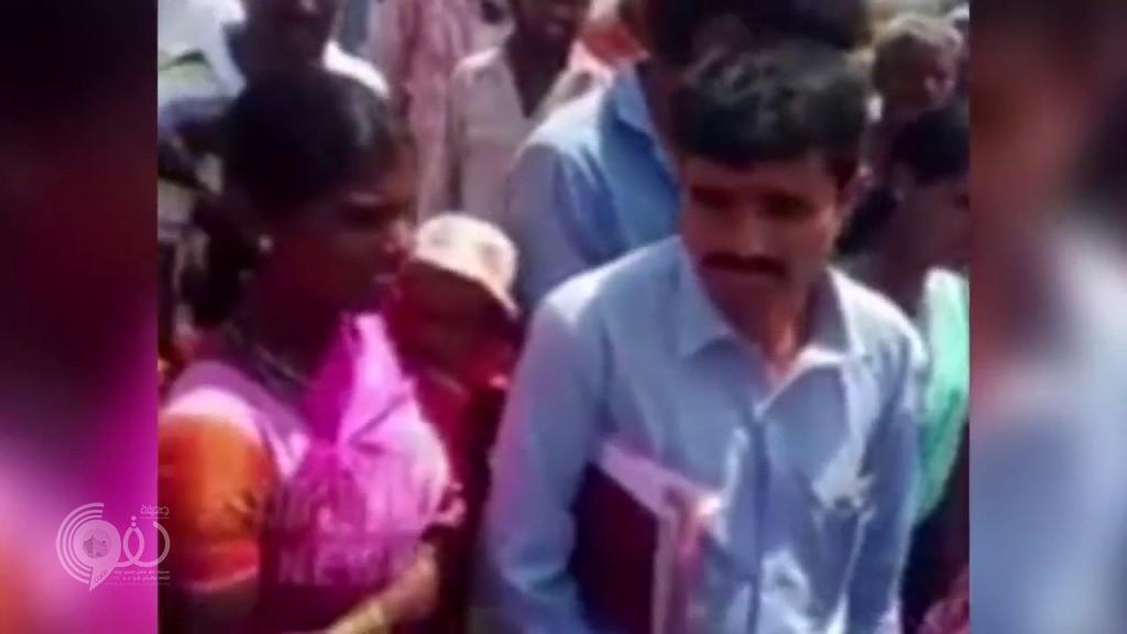 بالفيديو: لحظة ايقاف زفاف طفلة في الخامسة على طفل في التاسعة
