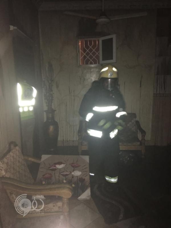 السيطرة على حريق بمنزل في صبيا