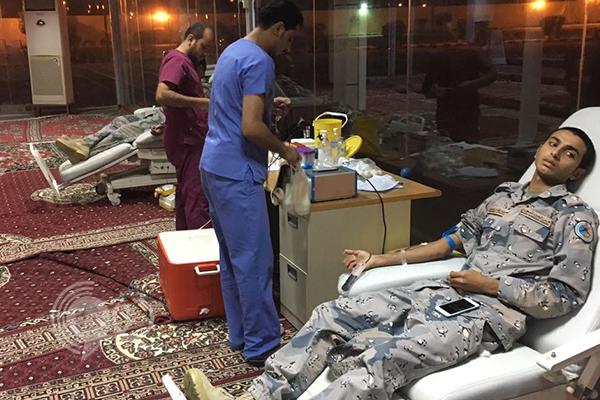 حرس الحدود ينفذ حملة للتبرع بالدم بمنطقة جازان