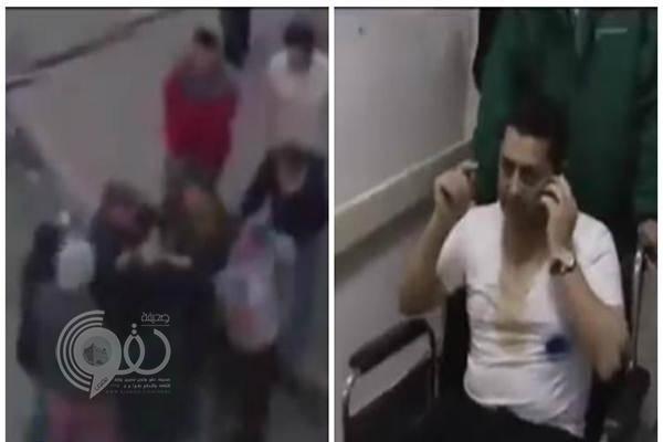 """بالفيديو: لحظة الاعتداء بالضرب على مدير """"الجزيرة القطرية"""" في الأردن !"""