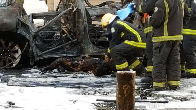 وزارة الداخلية: إعطاب سيارة استخدمت في ارتكاب جرائم إرهابية ومقتل شخصين بداخلها