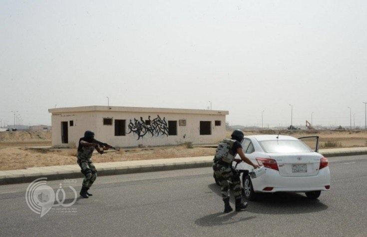 دوريات الأمن بجازان تنفذ فرضية أمنية للتعامل مع محاولة القيام بعمل إرهابي