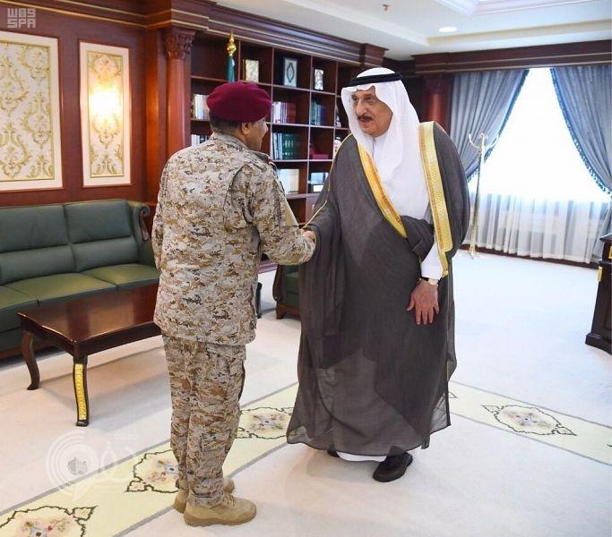 أمير جازان يستقبل قائد قوة جازان الجديد اللواء القحطاني .. صور