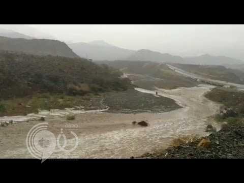 شاهد بالفيديو .. أمطار الريث شرق جازان بعد ظهر اليوم
