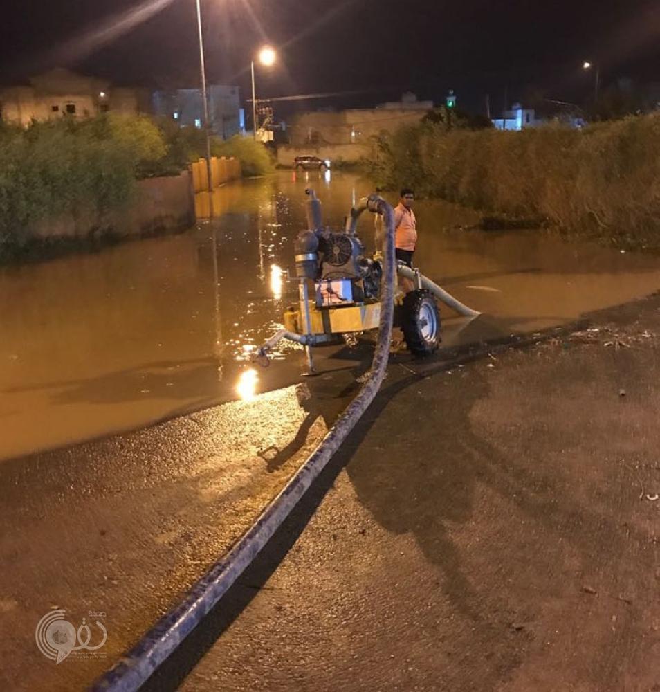الأمطار تحتجز 4 مواطنين وتحرق 3 أعمدة كهرباء بجازان