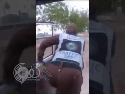 شاهد ردة فعل رجل أمن صادف مجهول يقوم بإشعال النيران في المشاعر المقدسة-فيديو