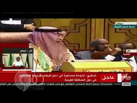 """مندوب قطر يفاجئ وزراء الخارجية العرب بـ""""إيران دولة شريفة"""".. و""""قطان"""": هذه أضحوكة.. وستندمون (فيديو)"""
