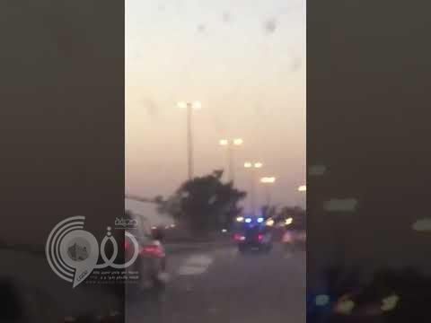بالفيديو : مطاردة أمنية تنتهي بإطلاق نار على مركبة المشتبه به في المجمعة
