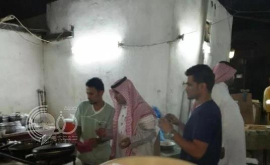 مداهمة عمالة تحضر وجبات في أحواش بطريقة مخالفة في صبيا