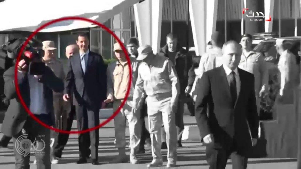 """لقطة للأسد أثناء استقبال بوتين تثير جدلاً.. ومعلقون: """"إهانة"""""""