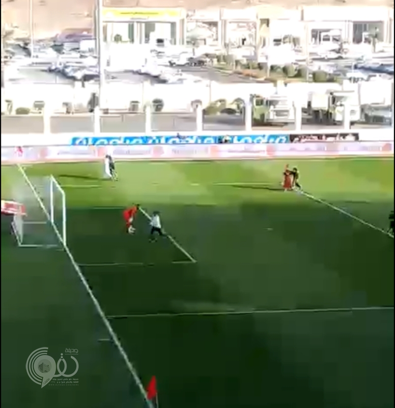 بالفيديو.. مطاردة فتاة نزلت أرض الملعب بالمدينة.. والجمهور يساعدها على الهرب