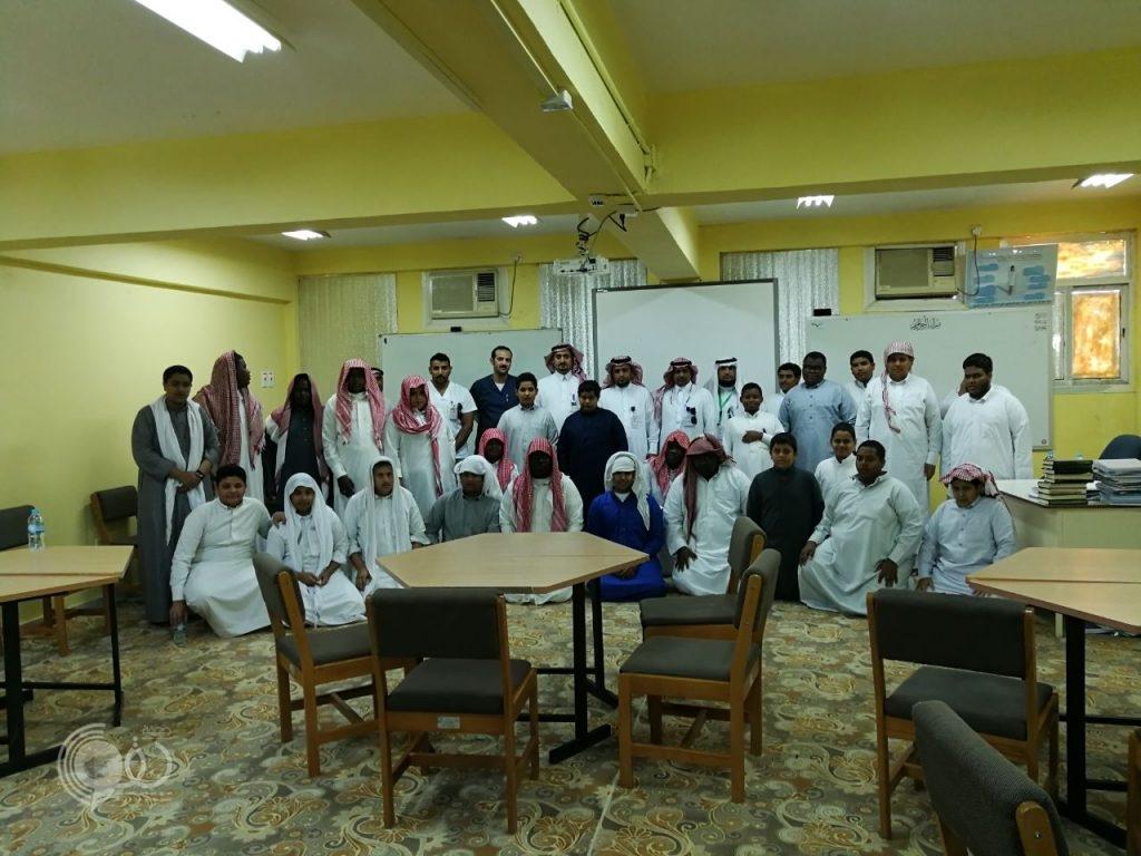 """بالصور ضمن الشراكة المجتمعية مركز صحي الحقو يُدشّن برنامج """"رشاقه"""" لطلاب المرحلة الثانوية"""