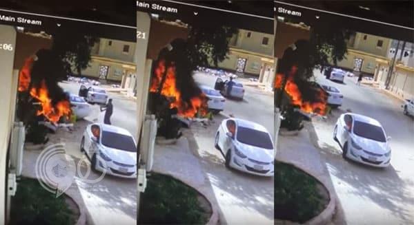 """شاب ينجح في إنقاذ أحد المنازل بمحافظة الخرج من """"كارثة محققة"""".. فيديو"""