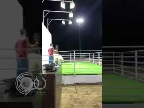 بالفيديو.. تيس في مزاد علني بالكويت يقفز قفزة مفاجئة ويعتدي على أعضاء اللجنة