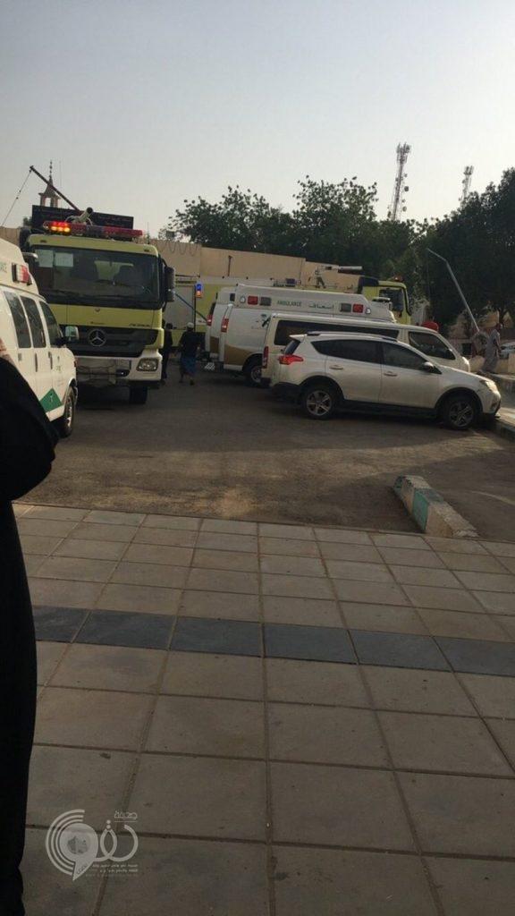 الدفاع المدني يباشر حريقًا اندلع في مستشفى العارضة بجازان