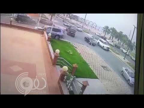 مقطع فيديو يكشف تفاصيل مطاردة بأسلحة نارية بكورنيش الجبيل