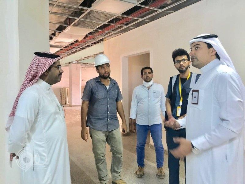 فريق هندسي من الصحة يقف على المشروعات الصحية بجازان