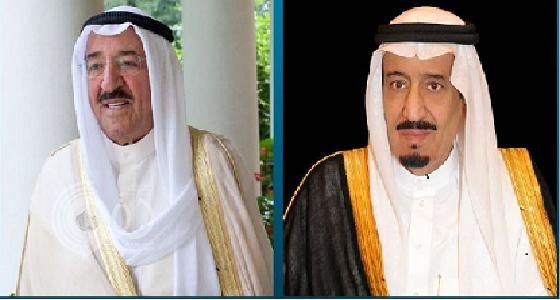 خادم الحرمين يتلقى برقية عزاء من أمير الكويت في شهداء جازان