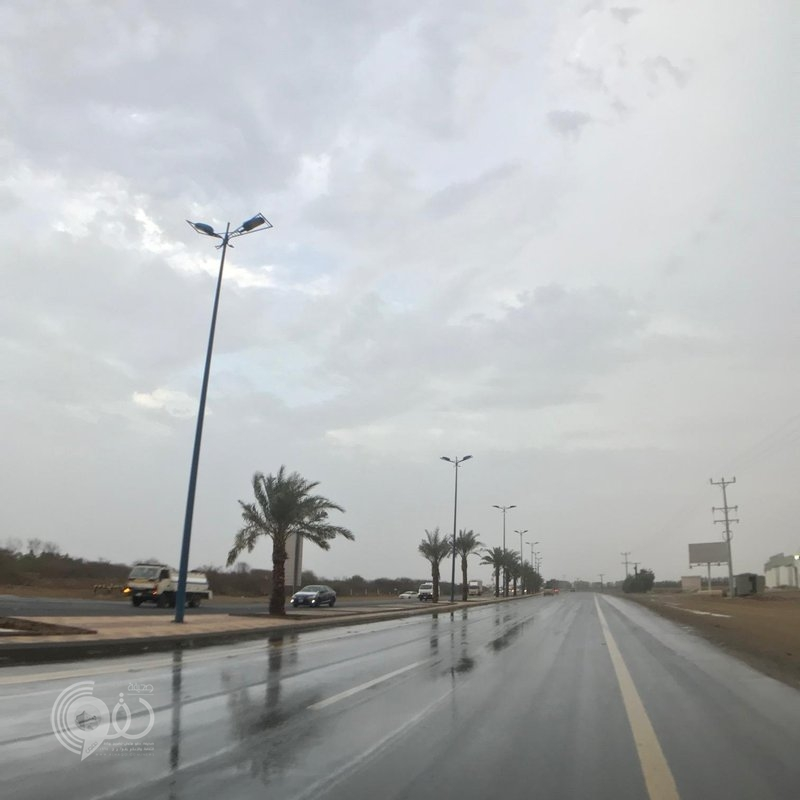 أمطار غزيرة مصحوبة بالبرد تشهدها شمال جازان