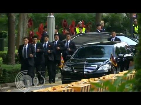 شاهد.. حراس زعيم كوريا الشمالية يهرولون وراء سيارته مجدداً في سنغافورة