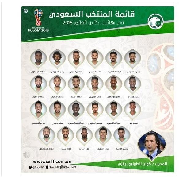بالأسماء والصور ..إعلان قائمة المنتخب المشاركة في نهائيات كأس العالم في روسيا 2018