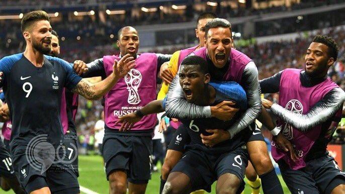 شاهد.. فرنسا تتوَّج للمرة الثانية بطلة لكأس العالم بعد فوزها على كرواتيا برباعية