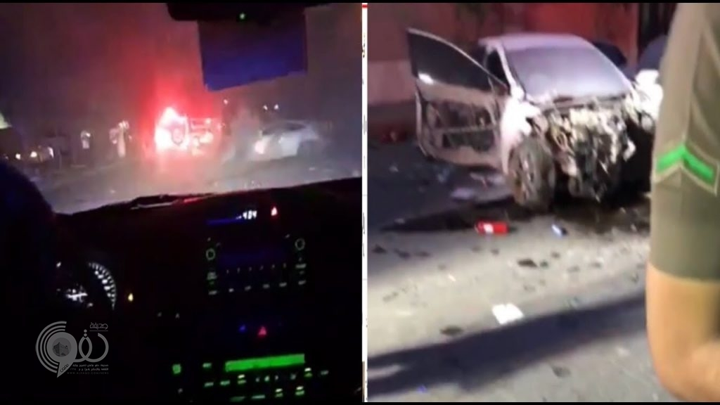 شاهد بالفيديو : لحظة مطاردة الدوريات الأمنية لسيارات مروجي مخدرات قاموا بدهس رجل أمن