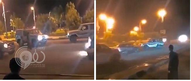 رغم الطلقات التحذيرية.. شاهد: قائد مركبة يفحط بسيارته في جازان.. وهكذا هرب بعد محاصرته من دورية أمنية!