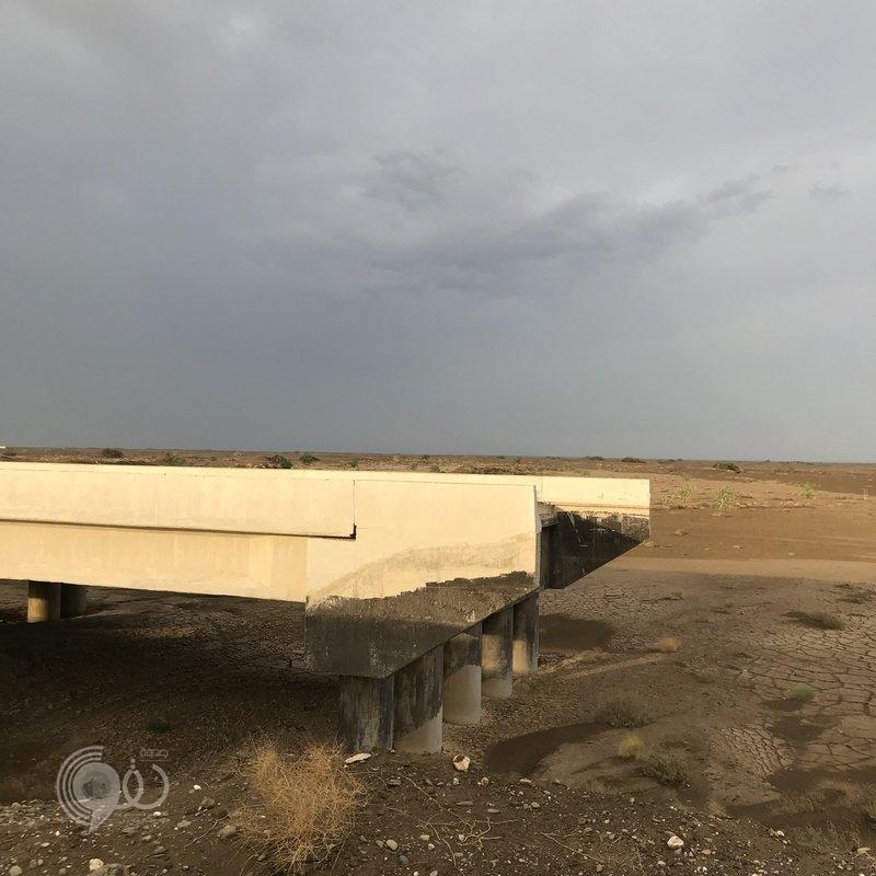 شاهد.. انهيار أرضي خطير بأحد جسور الطريق الدولي الجديد بمنطقة جازان!
