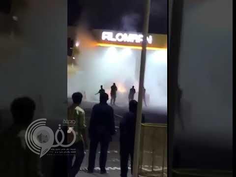 بالفيديو: اشتعال النيران في محطة وقود بالرياض.. وشاهد عيان يروي تفاصيل الحادث