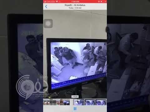 """شاهد بالفيديو .. سطو مسلح على مطعم شهير بالرياض باستخدام """"المسدسات"""""""