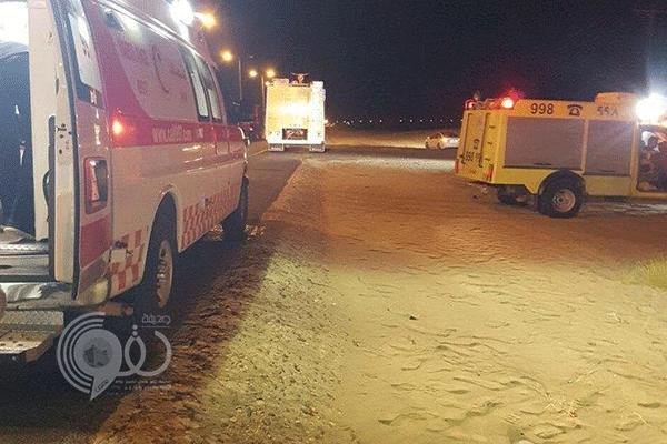 وفاة اثنين من مرور جازان وإصابة 3 آخرين في حادث مأساوي مروع