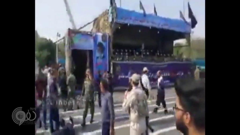 شاهد بالفيديو والصور.. لحظة الهجوم على عرض عسكري للحرس الثوري الإيراني ومقتل 8 منهم