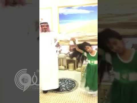 """شاهد: طفلة سعودية تتعرض لضربة """"سيف"""" أثناء احتفالها باليوم الوطني!"""