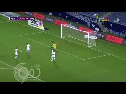 """بالفيديو : في الدقائق الأخيرة الأخضر يتعادل مع العراق بهدف لكل منهم في بطولة """"سوبر كلاسيكو"""""""