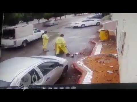 بعد مقطع حاوية النفايات ..إنهاء خدمات مراقب وتغريم مقاول النظافة بالرياض