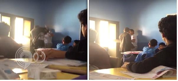 """شاهد.. """"مقطع فيديو"""" ضرب طالب أبها الذي أثار جدلاً واسعاً"""