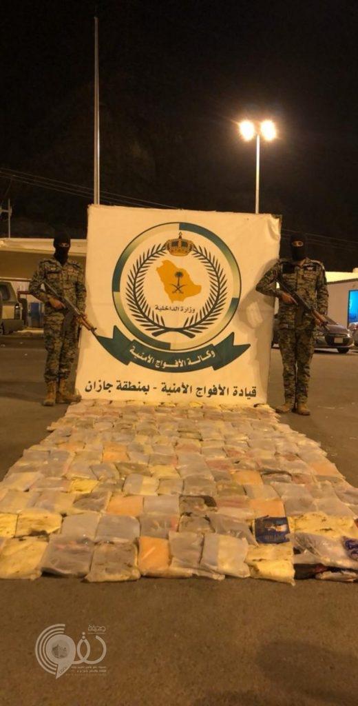 قوات الأفواج الأمنية بمحافظة الداير بجازان تحبط تهريب 330 طن حشيش