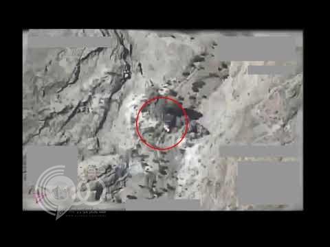 بالفيديو .. شاهد لحظة استهداف التحالف لمنصة إطلاق صواريخ بالستية في معقل الحوثي