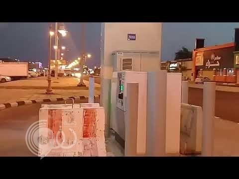 شاهد بالفيديو والصور.. للمرة الثالثة حواجز خرسانية تحاصر صراف الراجحي بجازان !