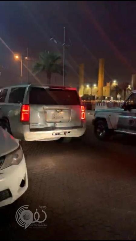 ضبط قائد مركبة ظهر في مقطع عبر سناب يسيء لرجال الأمن