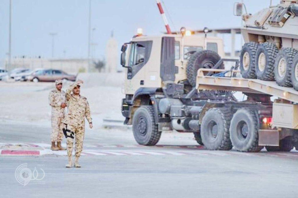 بالفيديو والصور .. شاهد انتقال طليعة قوات الحرس الوطني من الأحساء للحد الجنوبي