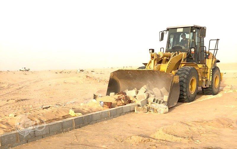 إزالة تعديات على أراضِ حكومية مساحتها مليون متر مربع بجدة
