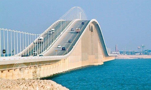أعمال صيانة في منطقة الجوازات بجسر الملك فهد