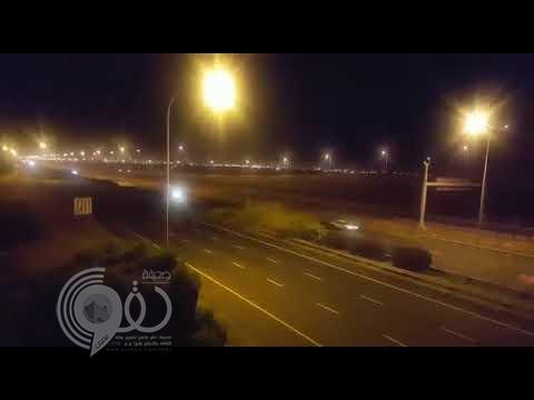 بالفيديو .. نهاية مروعة لسباق سيارات في أحد شوارع المملكة !