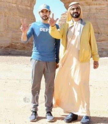 """بالفيديو.. ولي عهد دبي للسعوديين: """"عندكم ها الأرض وما تخبرونا عنها"""""""