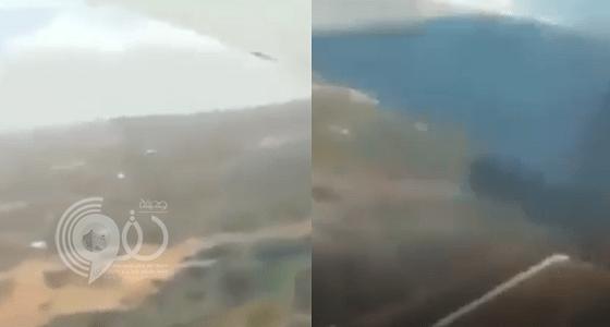 شاهد بالفيديو.. لحظة تحطم الطائرة الإثيوبية على متنها 157 راكباً