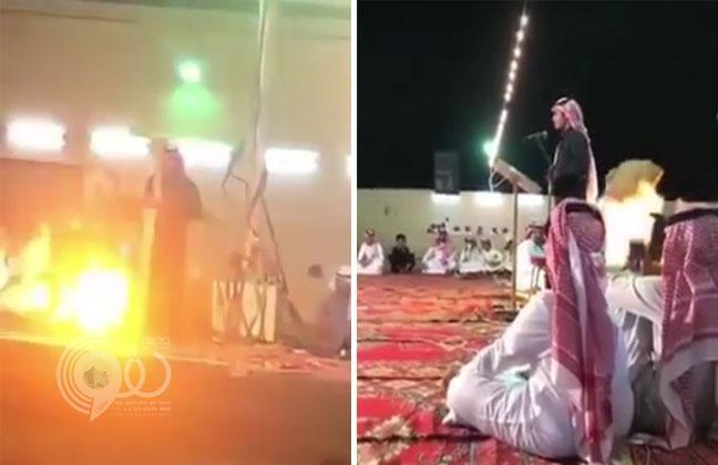 شاهد.. انفجار وإصابات في حفل زواج بمكة بسبب سيجارة!