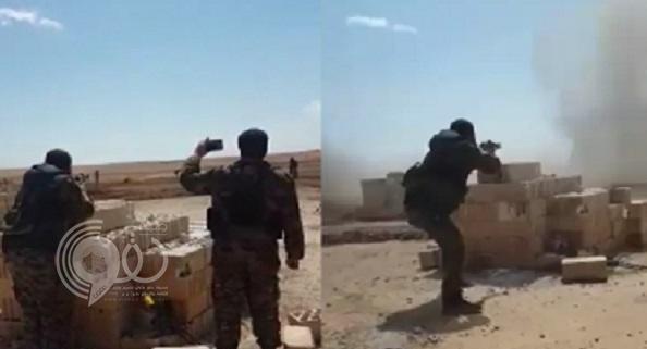 شاهد.. لحظة تفجير دواعش لأنفسهم بعد اقترابهم من قوات سوريا
